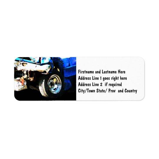 Demo Derby Car Return Address Label