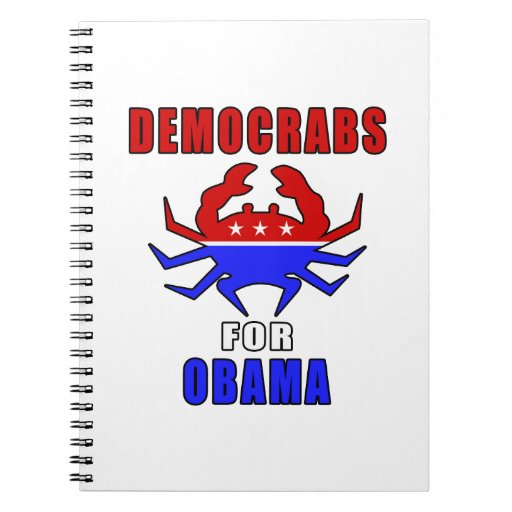Democrabs For Obama Note Book