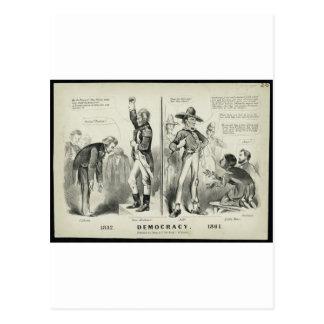 Democracy 1832 post card
