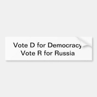 Democracy Bumper Sticker- Show Trump Bumper Sticker