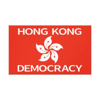Democracy Hong Kong Orchid Flag Canvas Prints