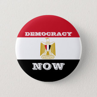 Democracy Now - Egypt Flag - Round Button