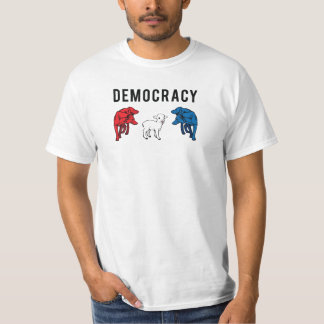 Democracy Two Wolves and a Lamb T-Shirt