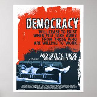 Democracy Will Cease 16x20 Print