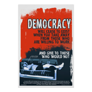 Democracy Will Cease (24x36) Poster