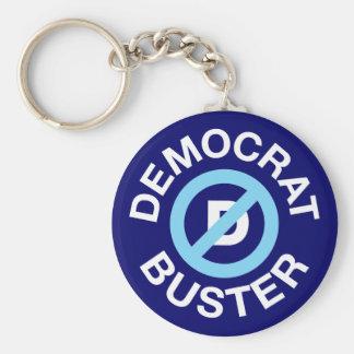 Democrat Buster Basic Round Button Key Ring