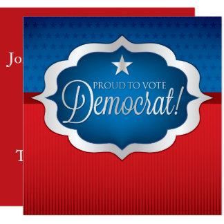 Democrat Card