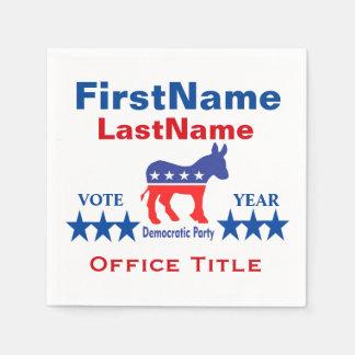 Democrat Custom Campaign Template Paper Napkin