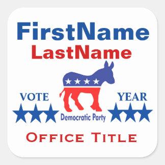 Democrat Custom Campaign Template Square Sticker