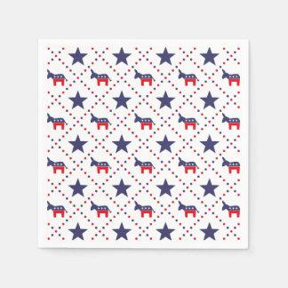 Democrat Diamond Pattern Paper Napkin