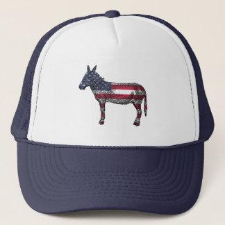 Democrat Donkey American Flag Baseball Cap
