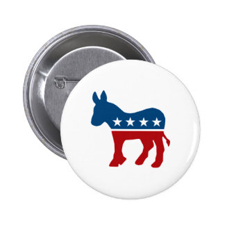 Democrat Donkey 6 Cm Round Badge
