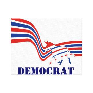Democrat Donkey Election 2016 Canvas Print