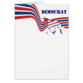 Democrat Donkey Election 2016 Card