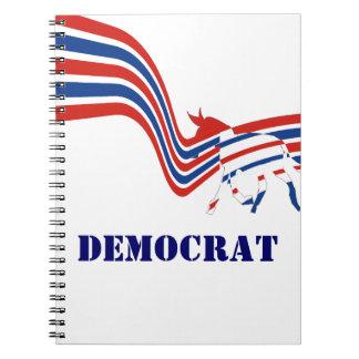 Democrat Donkey Election 2016 Spiral Notebooks
