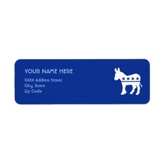 Democrat Donkey Label