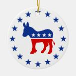 Democrat Donkey Ornament