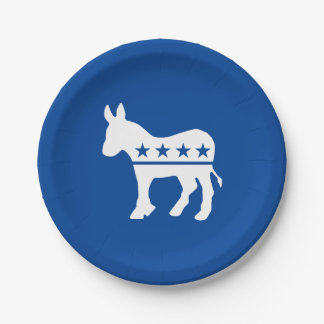 Democrat Donkey Personalize Paper Plate