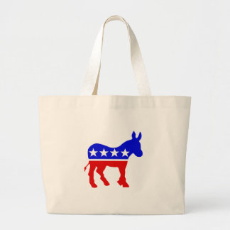 Democrat Donkey Political Symbol Canvas Bags