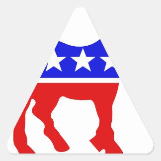 Democrat Donkey Political Symbol Triangle Sticker