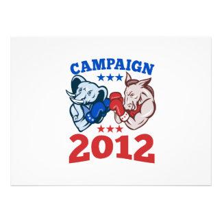 Democrat Donkey Republican Elephant Campaign 2012 Custom Invite