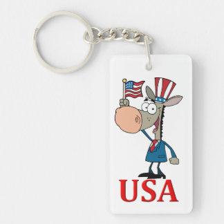 democrat donkey with usa key ring