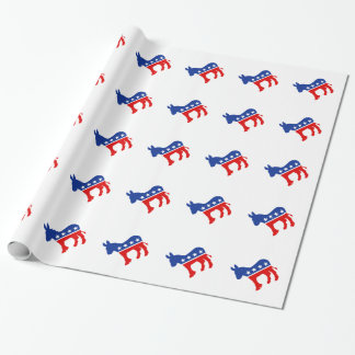Democrat Donkey Wrapping Paper