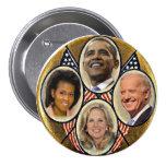 Democrat Family Quadragate 3-Inch Button