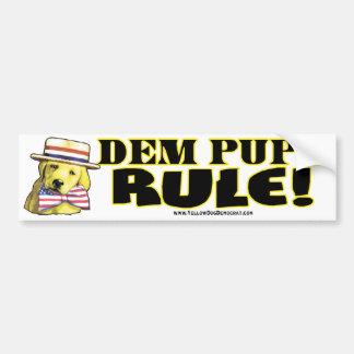 Democrat Pups Rule Bumper Sticker