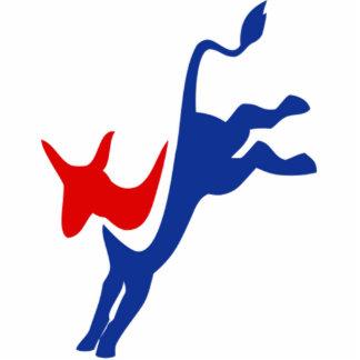 democrat standing photo sculpture