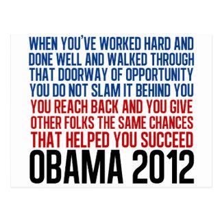 Democratic Convention Quote Postcard
