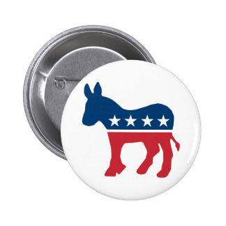 Democratic Donkey 6 Cm Round Badge