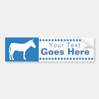 Democratic Donkey Bumper Sticker