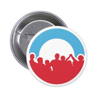 Democratic Logo Button