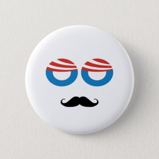 Democratic Man - Mustache You A Question 6 Cm Round Badge