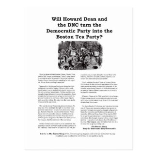 Democratic Party or Boston Tea Party Post Card