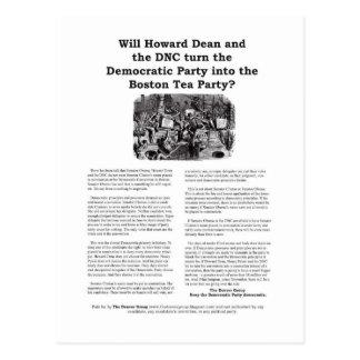 Democratic Party or Boston Tea Party Postcard