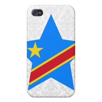 Democratic+Republic+of+Congo Star iPhone 4/4S Case