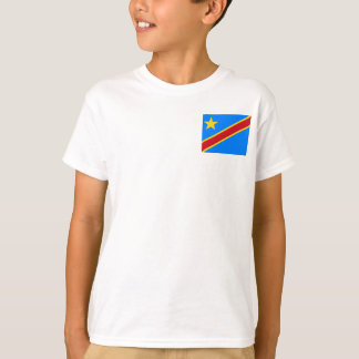Democratic Republic of the Congo World Flag T-Shirt
