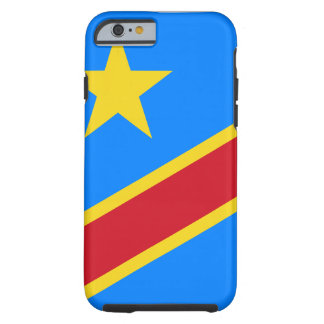 Democratic Republic of the Congo World Flag Tough iPhone 6 Case