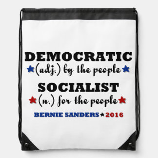 Democratic Socialist Bernie Sanders Drawstring Bag