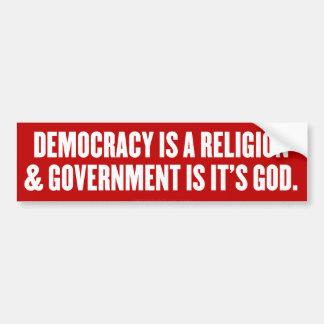 Democratic Theism Bumper Sticker