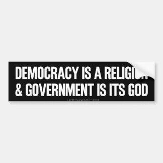 Democratic Theology Bumper Sticker