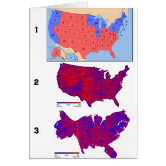 Democratic Vote Maps Greeting Card