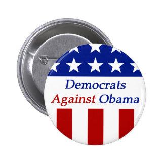 Democrats Against Obama Button