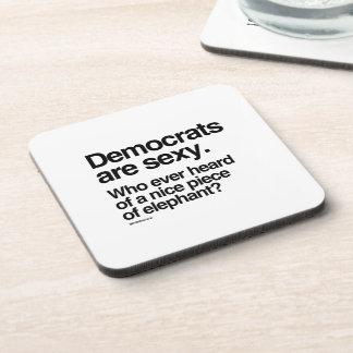 Democrats are sexy beverage coaster