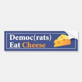 Democrats Eat Cheese bumper sticker