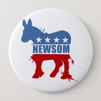 Democrats for Newsom 10 Cm Round Badge