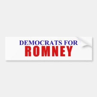 Democrats for Romney Bumper Sticker