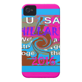 Democrats Hillary For USA President We are Stronge iPhone 4 Case-Mate Case